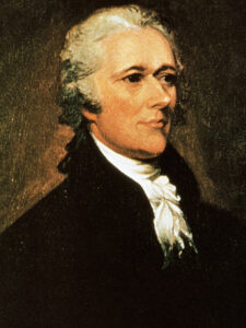 Portrait of Alexander Hamilton-Aaron Burr Enemy
