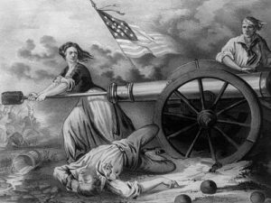 Artist Depiction of Molly Pitcher at Monmouth, NJ