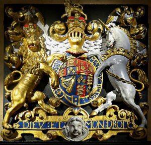English Royal Coat of Arms-Symbol of British Rule
